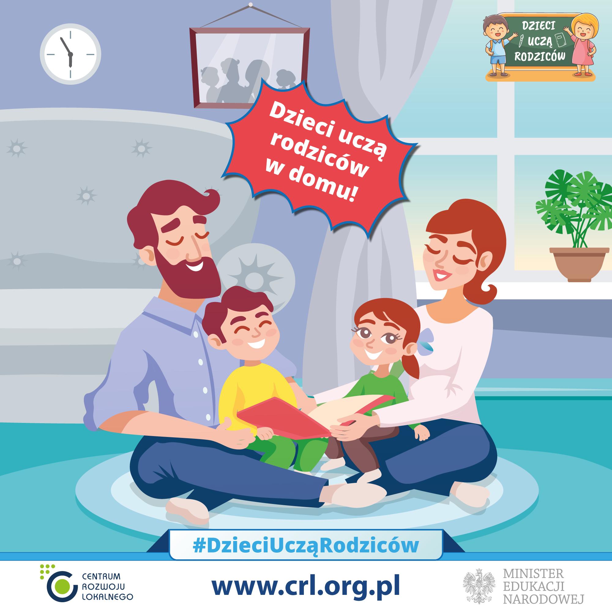 Dzieci uczą rodziców w domu - ogólnopolska akcja edukacyjna - zdjęcie główne