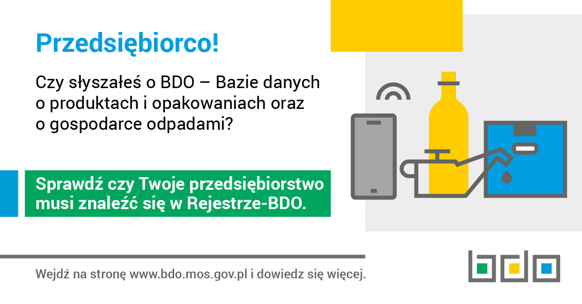 Uwaga przedsiębiorcy - obowiązek wpisu do Rejestru BDO - zdjęcie główne