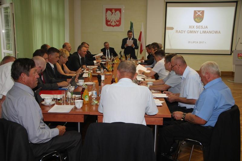 XIX sesja Rady Gminy Limanowa - zdjęcie główne