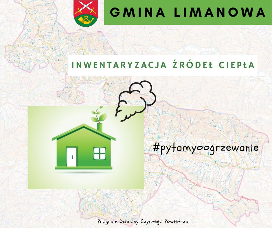 Inwentaryzacja źródeł ogrzewania na terenie Gminy Limanowa - zdjęcie główne