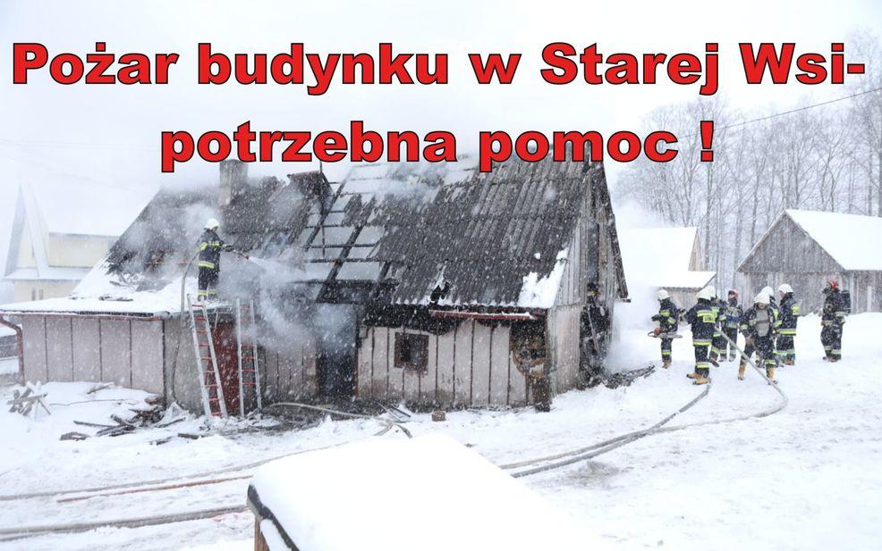 Pan Mirosław ze Starej Wsi stracił dobytek - potrzebna pomoc - zdjęcie główne