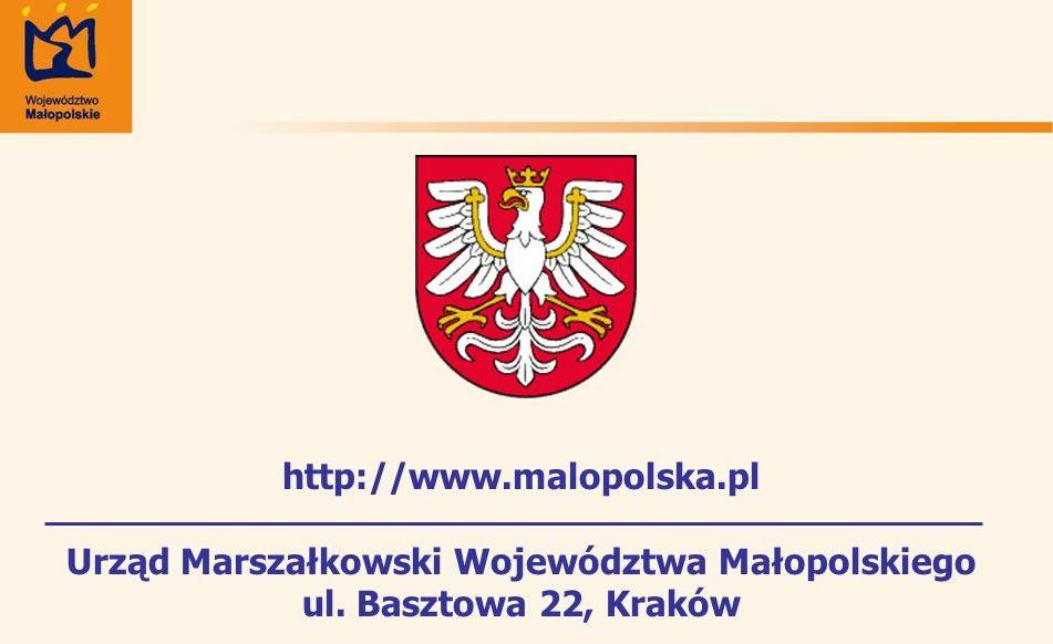 Zawiadomienie  Marszałka  Woj. Małopolskiego o wszczęciu postępowania - zdjęcie główne