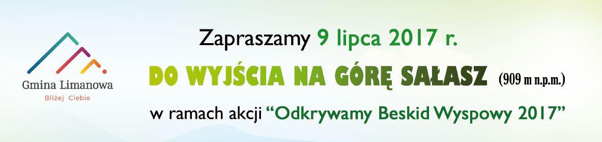 """9 lipca zdobywamy Sałasz w ramach akcji """"Odkryj Beskid Wyspowy 2017""""! - zdjęcie główne"""