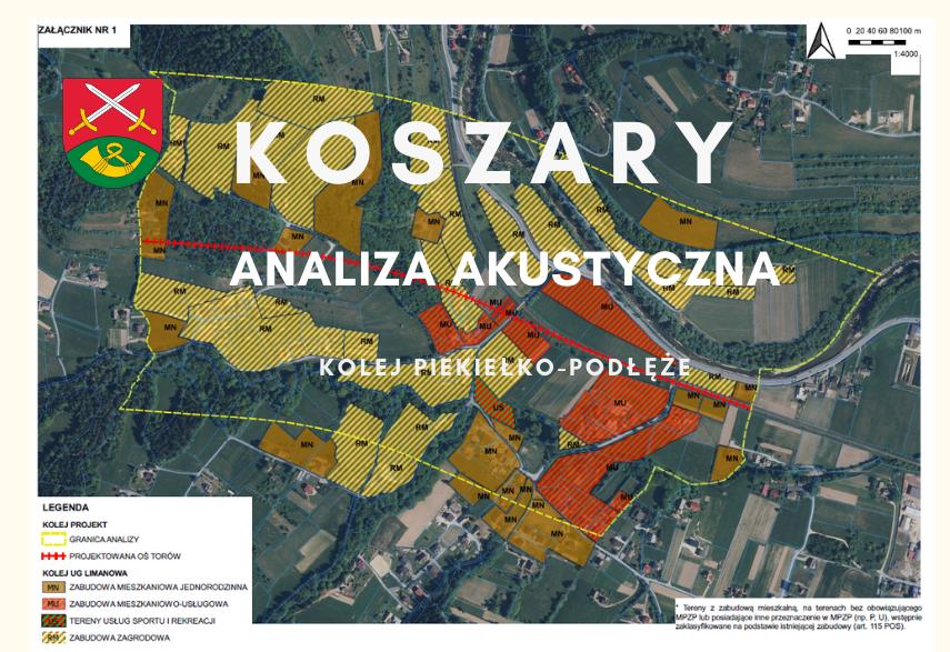 Koszary- analiza akustyczna - kolej Piekiełko-Podłęże - zdjęcie główne