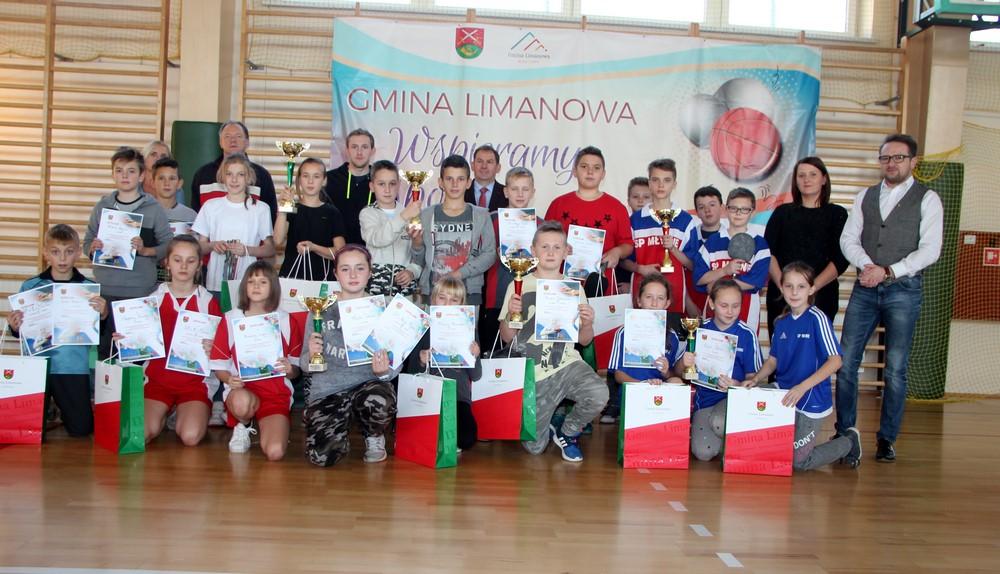 Mistrzostwa Gminy Limanowa w tenisie stołowym - Igrzyska Dzieci - zdjęcie główne