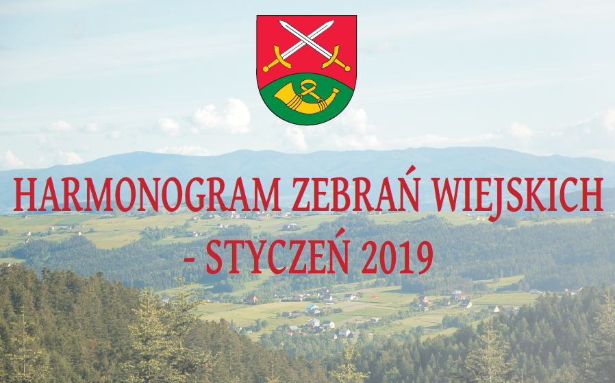 Harmonogram zebrań wiejskich - styczeń 2019 - zdjęcie główne