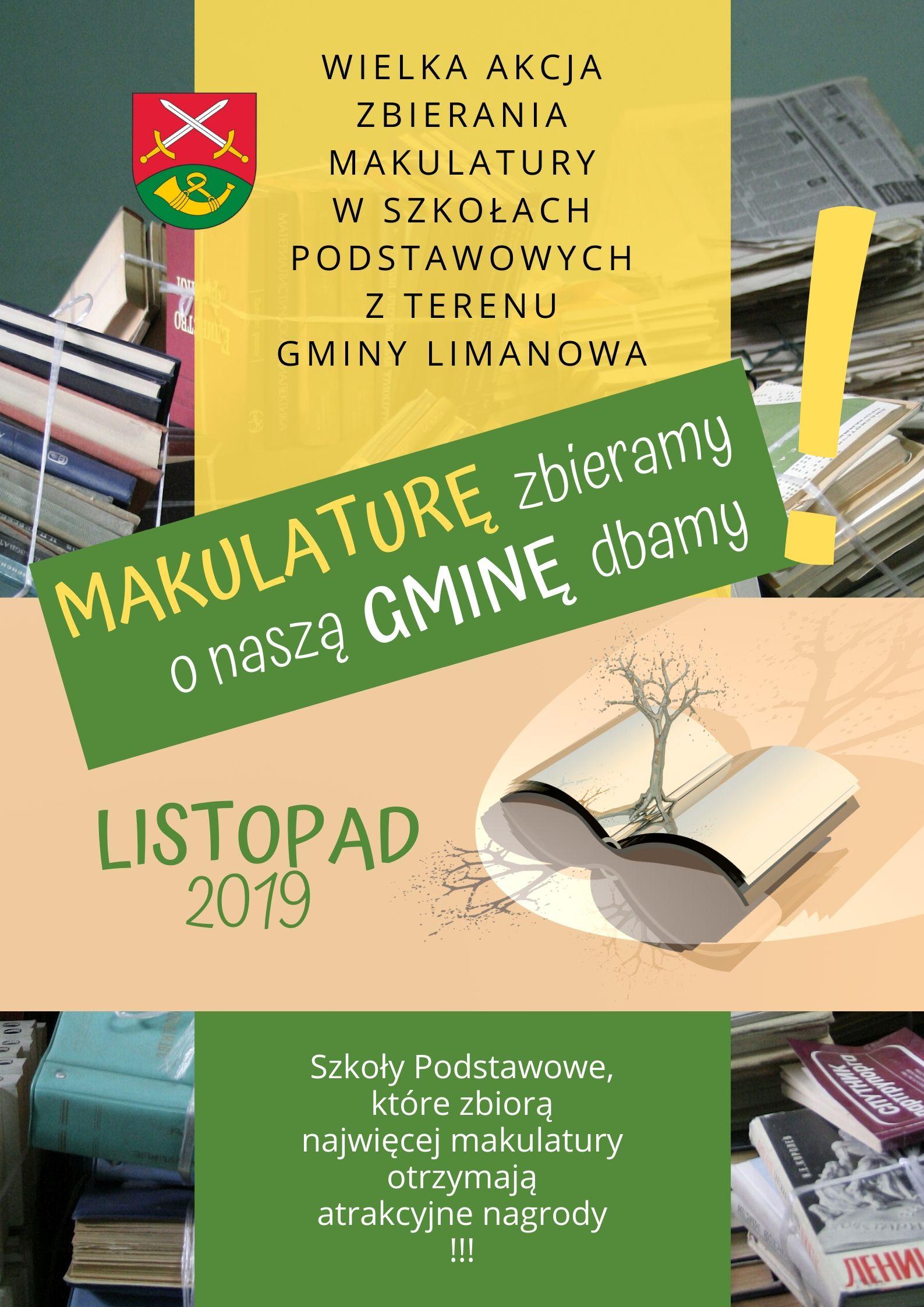 Konkursowa zbiórka makulatury  dla szkół z terenu gminy Limanowa - zdjęcie główne