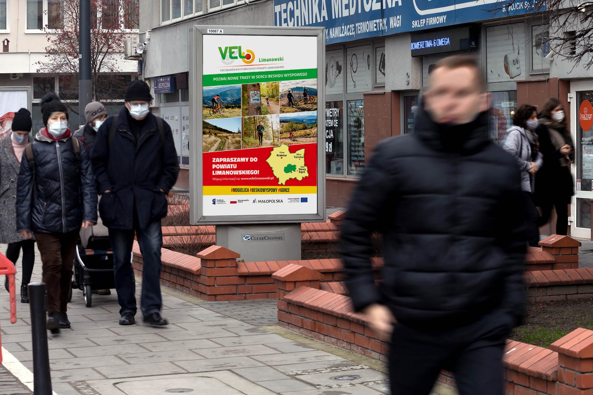 """Nowe szlaki turystyczne """"VELO Limanowski"""" promowane na ulicach Krakowa i Warszawy - zdjęcie główne"""