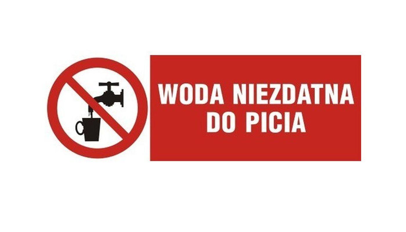 Zakaz użytkowania wody z wodociągu zaopatrującego SP w Kaninie - zdjęcie główne