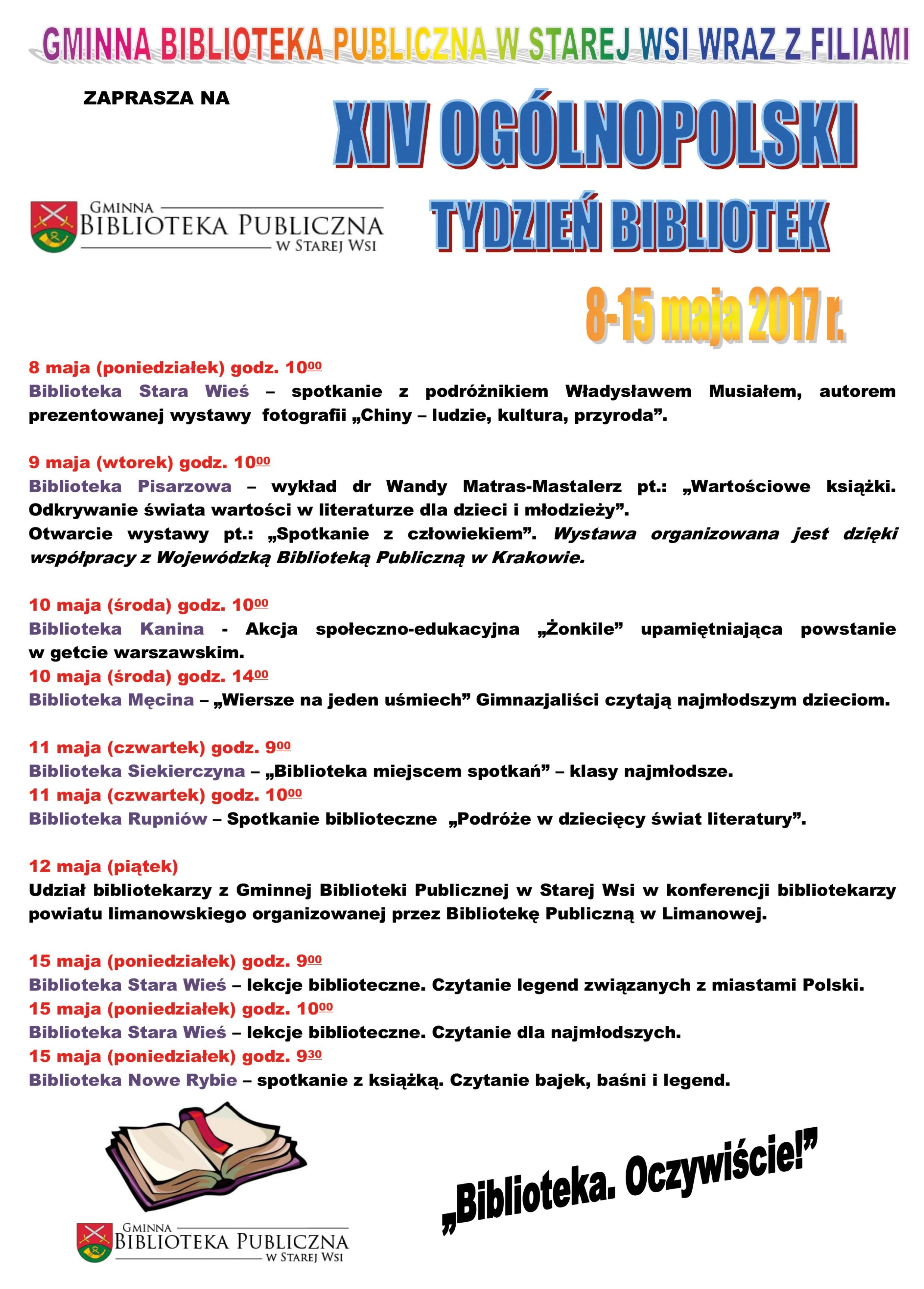 Tydzień Bibliotek W Gminie Limanowa Xiv Edycja Biblioteka