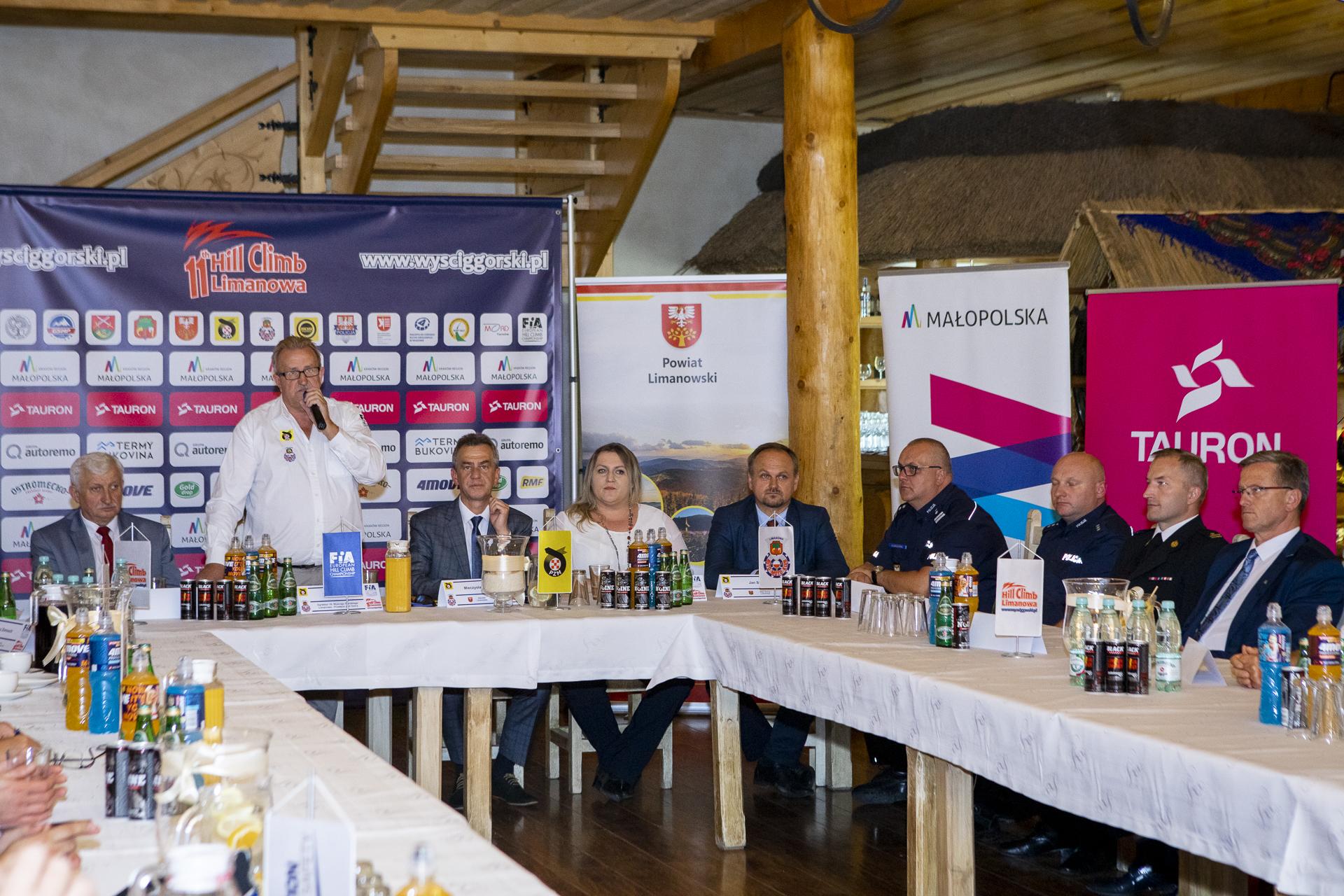 Konferencja prasowa przed 11. Wyścigiem Górskim Limanowa – Przełęcz pod Ostrą - zdjęcie główne