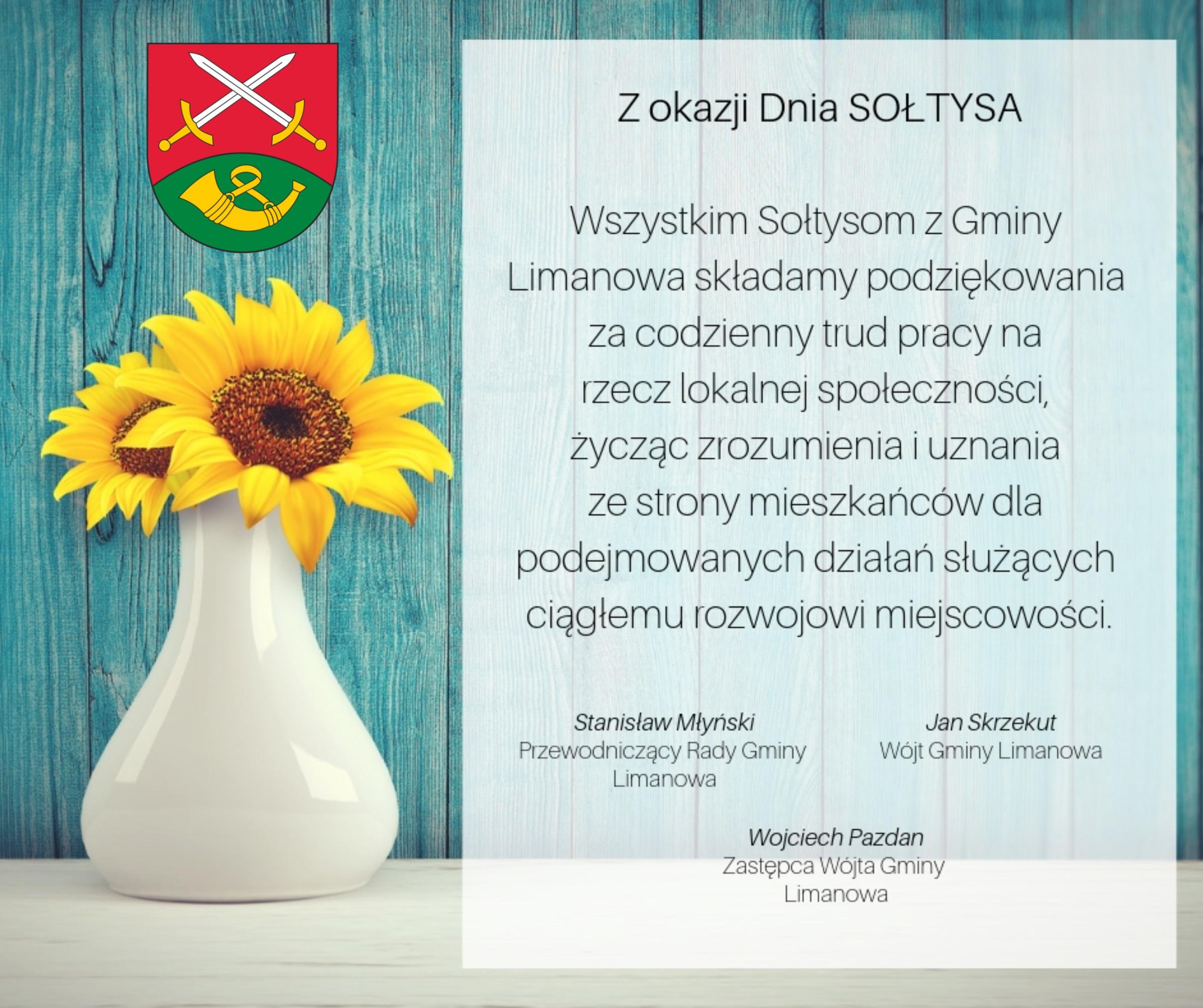 11marca Dzień Sołtysa - życzenia dla wszystkich sołtysów z Gminy Limanowa - zdjęcie główne
