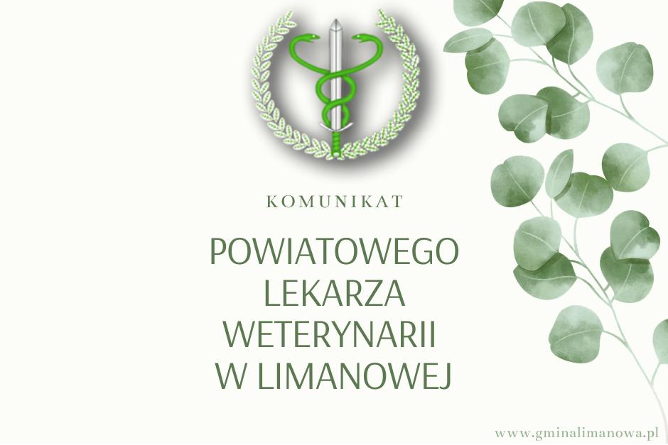 Komunikat Powiatowego Lekarza Weterynarii w sprawie pomoru trzody chlewnej - zdjęcie główne