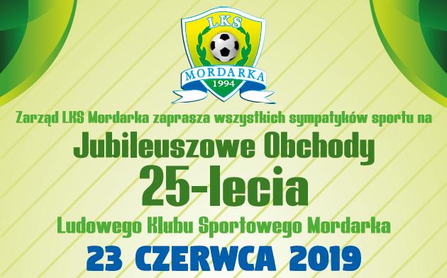 Zaproszenie na 25-lecie LKS Mordarka - zdjęcie główne