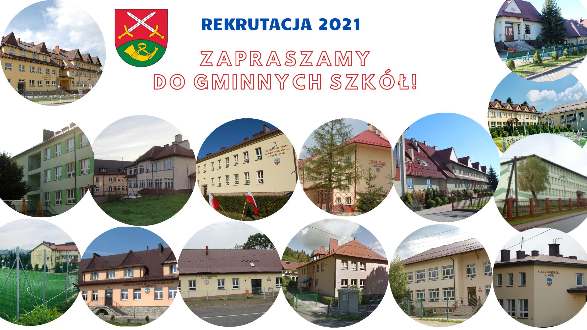 Rekrutacja 2021- zachęcamy do zapisywania dzieci  do gminnych szkół! - zdjęcie główne