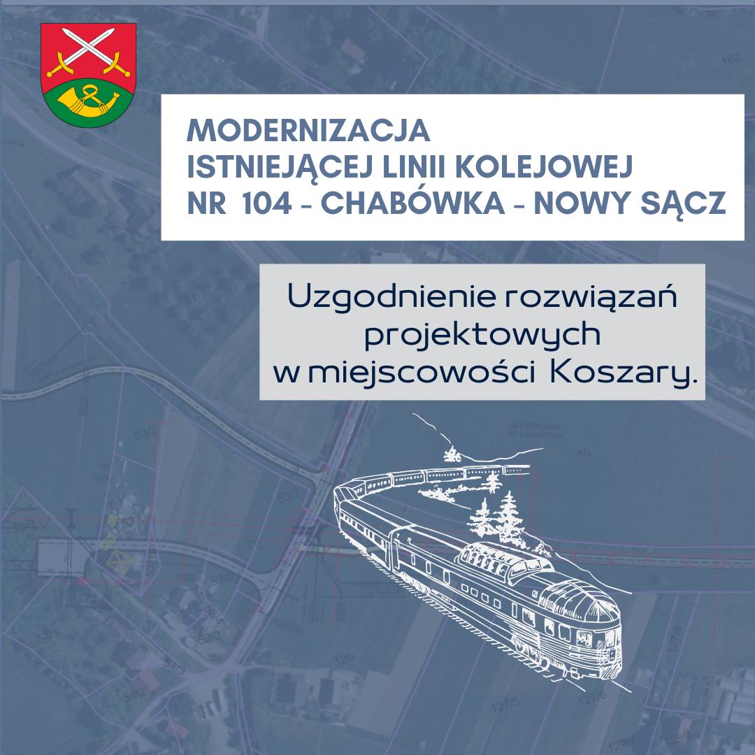 Uzgodnienie rozwiązań projektowych w miejscowości Koszary- linia kolejowa 104 Chabówka – Nowy Sącz - zdjęcie główne