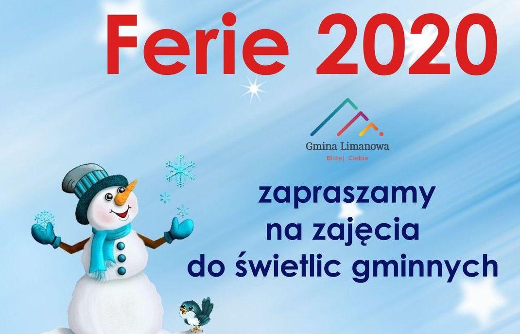 Ferie 2020 w gminnych świetlicach - zdjęcie główne