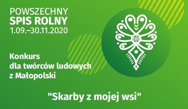 """Powszechny Spis Rolny 2020 - konkurs dla twórców ludowych w Małopolsce pt. """"Skarby z mojej wsi"""" - zdjęcie główne"""