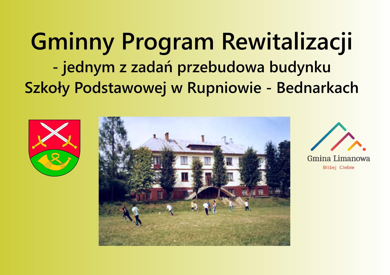 Przebudowa Szkoły Podstawowej w Rupniowie Bednarkach  jednym z zadań Programu Rewitalizacji - zdjęcie główne