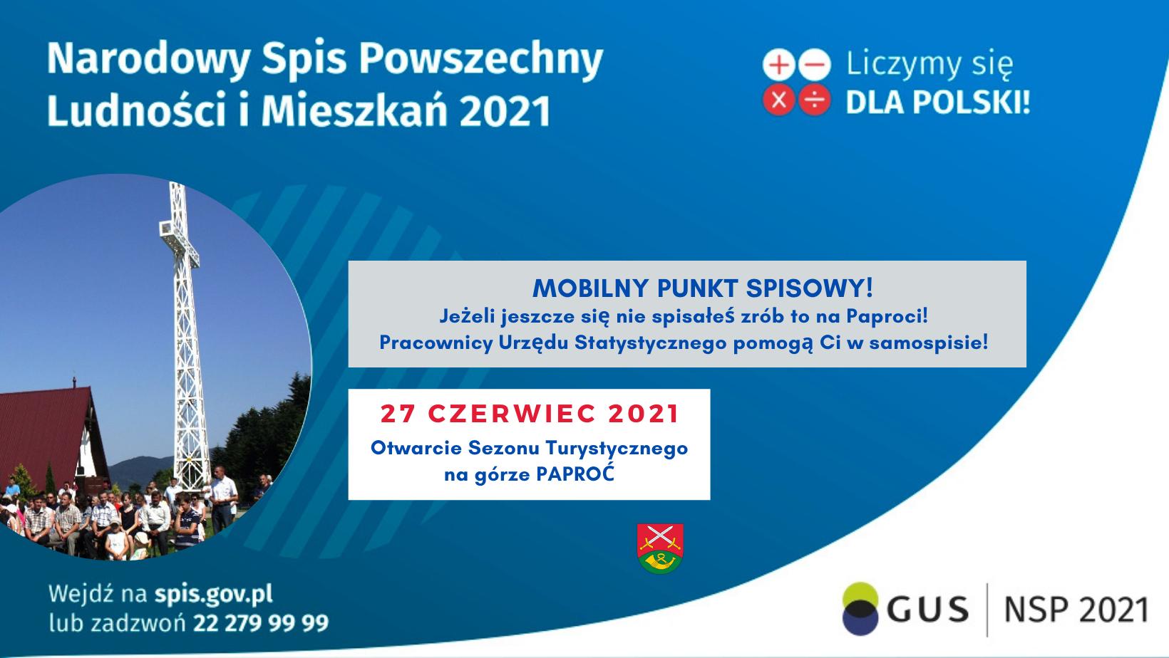 Spisz się na Paproci! - możliwość samospisu podczas Otwarcia Sezonu Turystycznego - NSP 2021 - zdjęcie główne