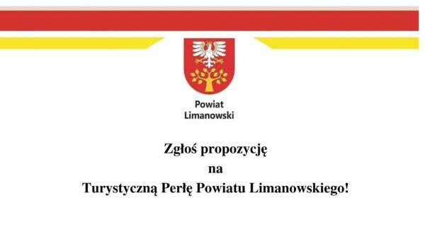 Zgłoś propozycję na Turystyczną Perłę Powiatu Limanowskiego - zdjęcie główne