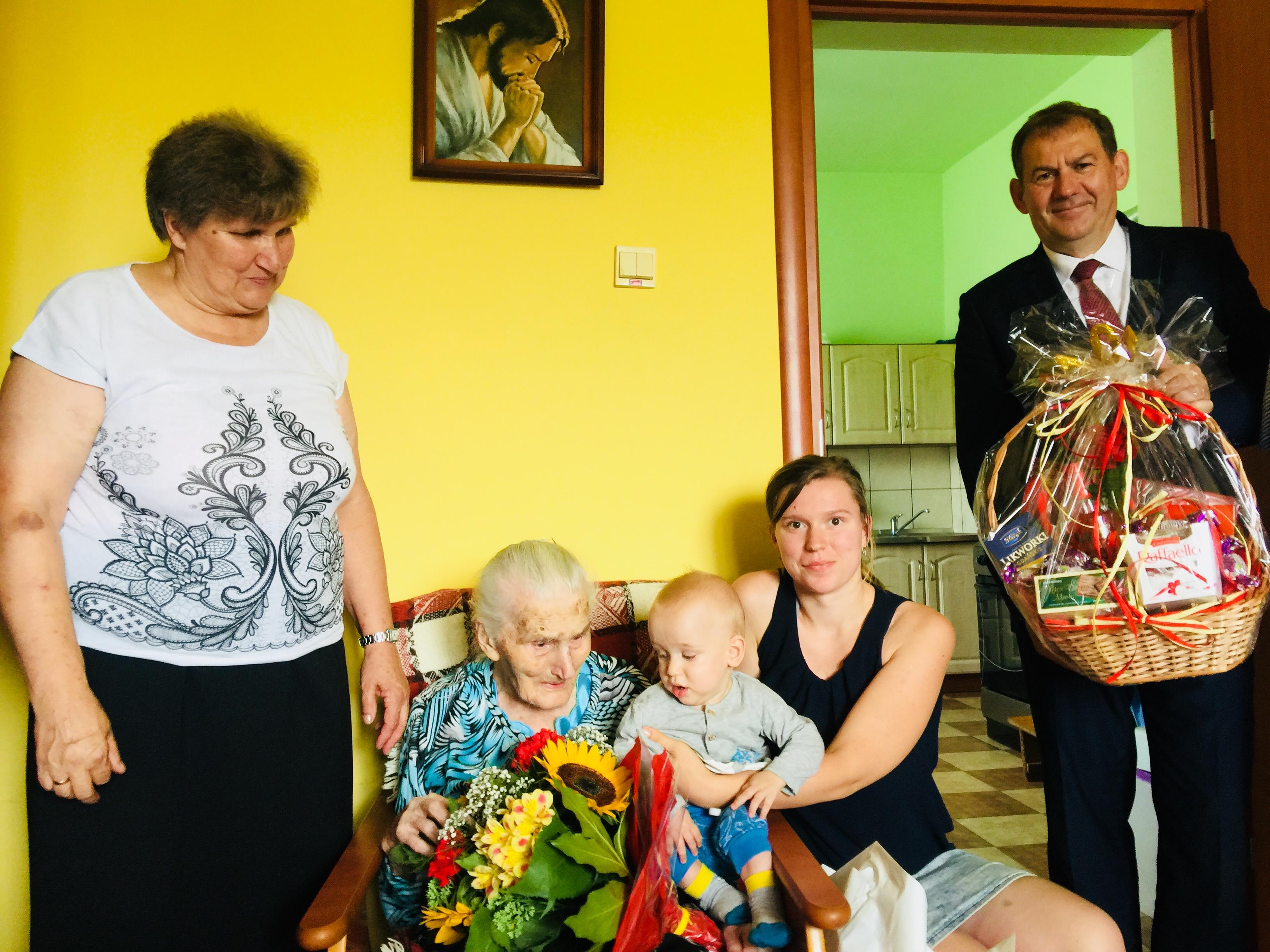 105 urodziny  najstarszej mieszkanki  gminy Limanowa - zdjęcie główne