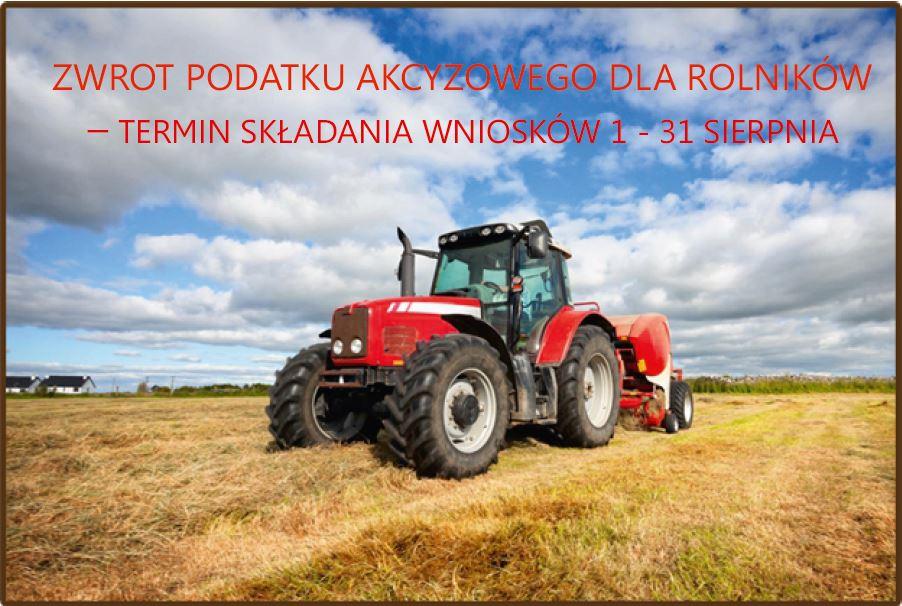 Do  31 sierpnia rolnicy mogą składać wnioski o zwrot podatku akcyzowego - zdjęcie główne