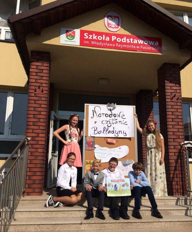 Narodowe Czytanie  ''Balladyny'' w Szkole Podstawowej w Pasierbcu - zdjęcie główne