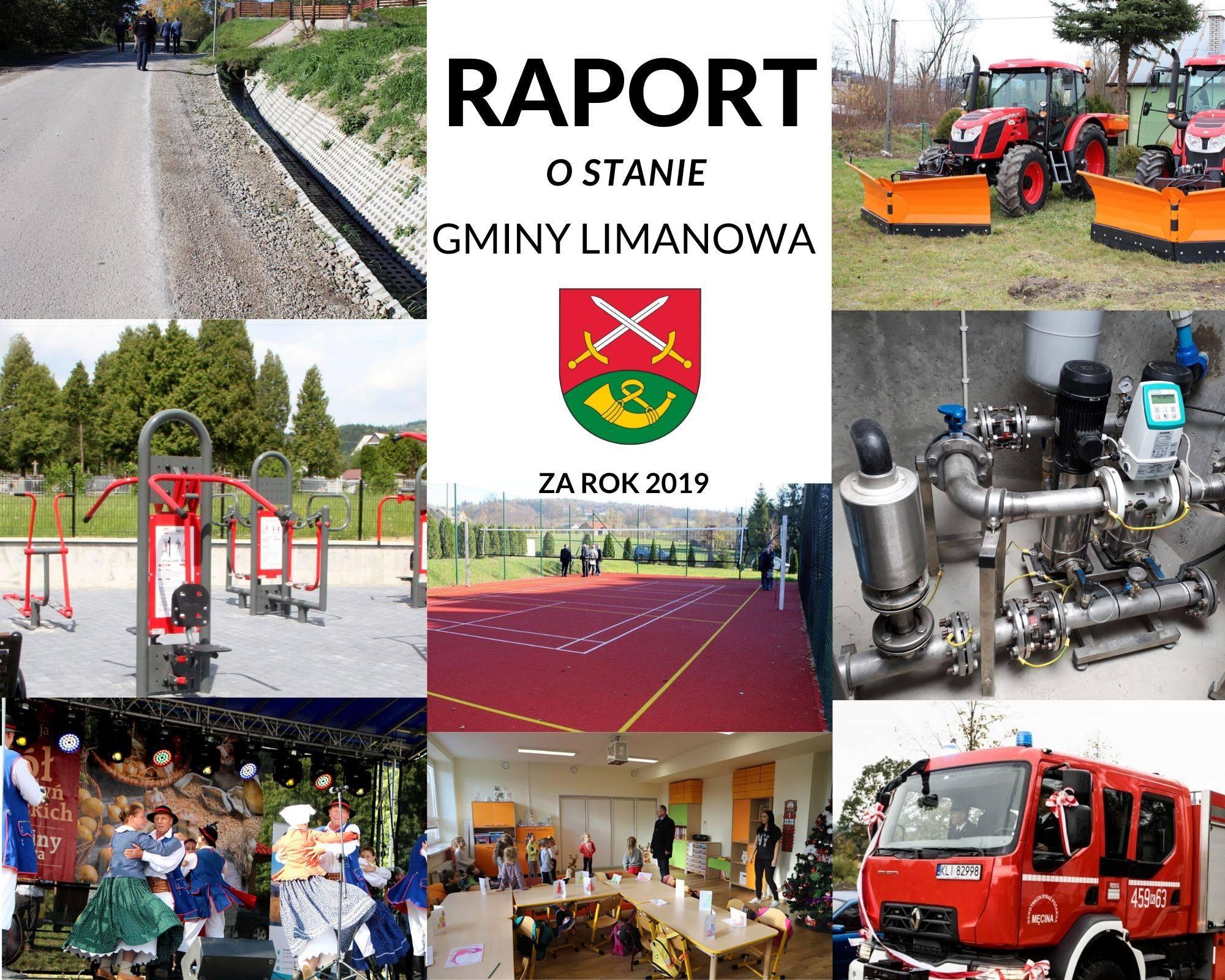 Raport o stanie  Gminy Limanowa  za 2019 rok - zdjęcie główne