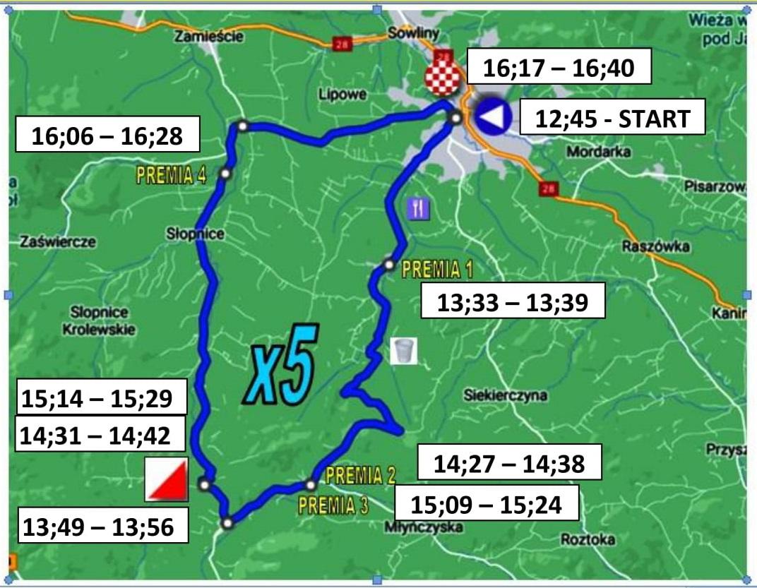 """Przebieg trasy 23. Międzynarodowego Wyścigu Kolarskiego """"Memoriał Henryka Łasaka"""" - zdjęcie główne"""