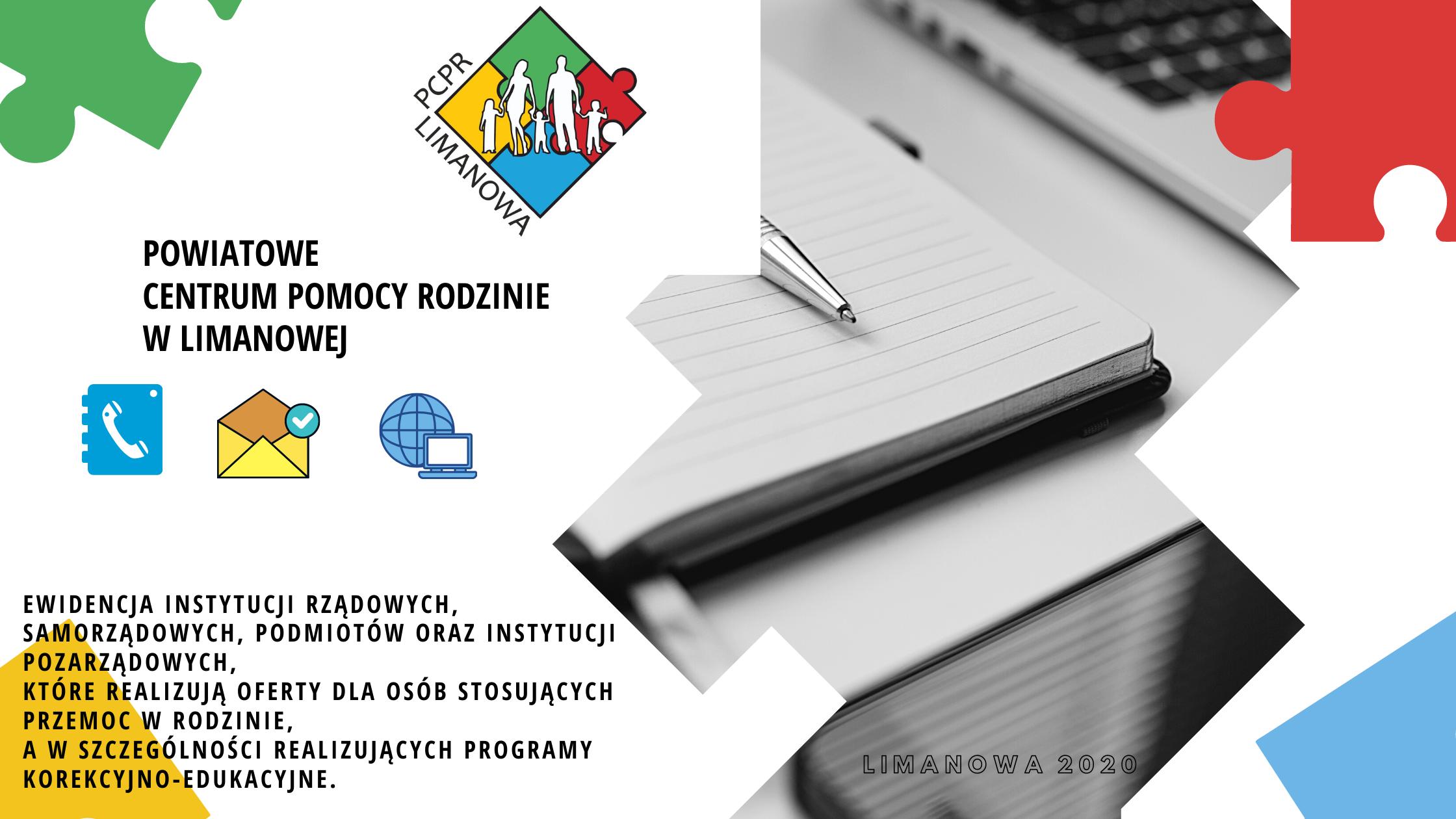 Ewidencja instytucji realizujących program korekcyjno-edukacyjny  od PCPR Limanowa - zdjęcie główne