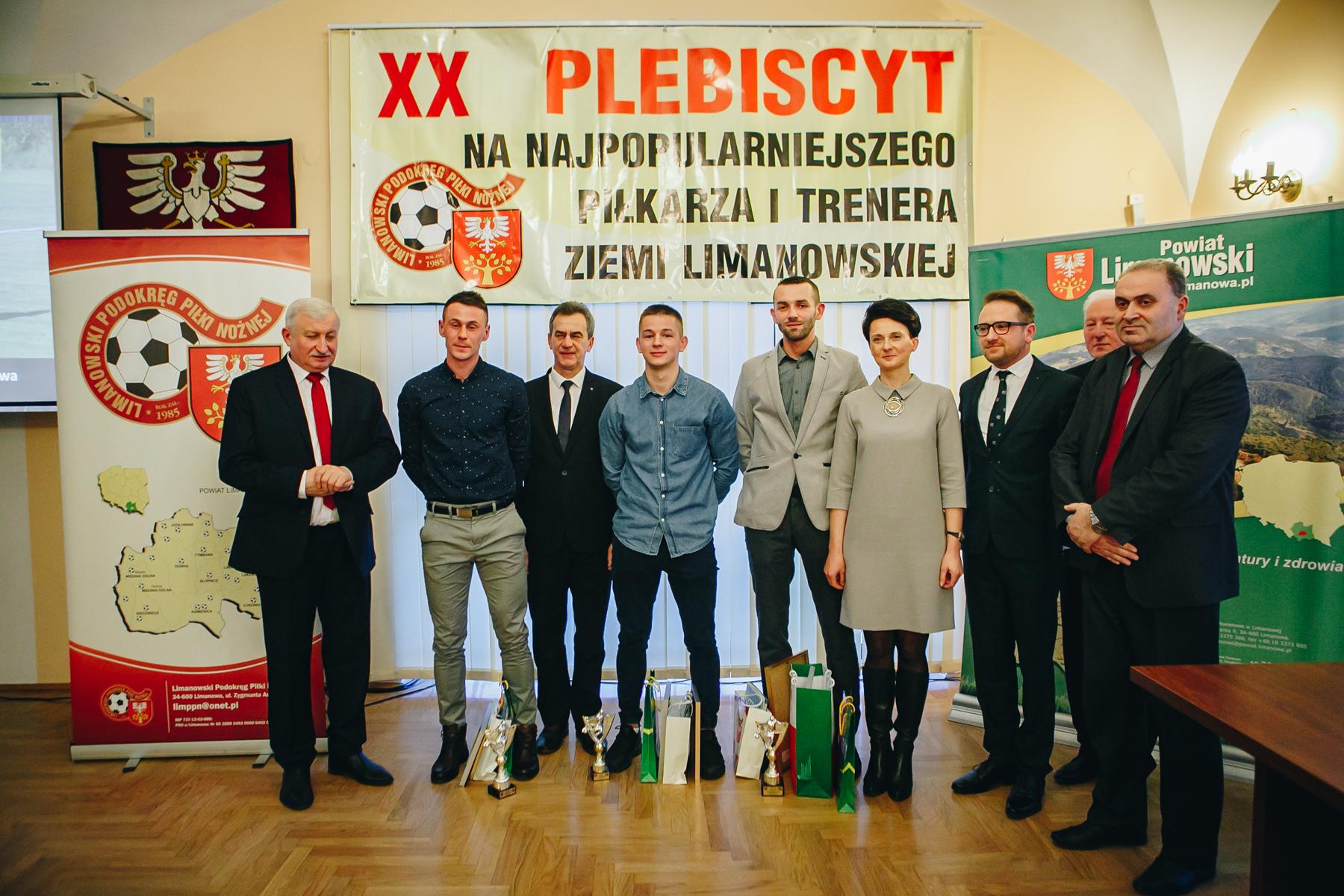 Podsumowanie XX Plebiscytu na najpopularniejszego piłkarza i trenera ziemi limanowskiej 2017 - zdjęcie główne