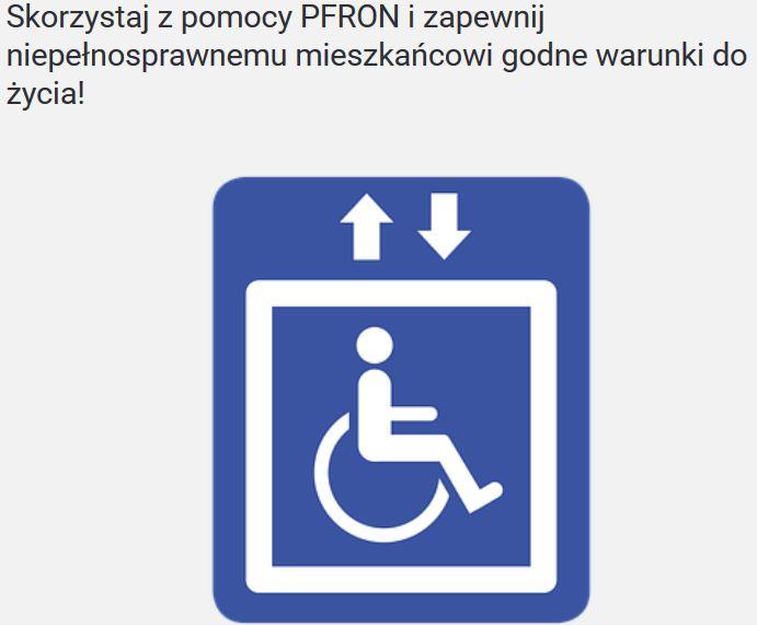 Pieniądze na windę - dofinansowanie z  PFRON - zdjęcie główne