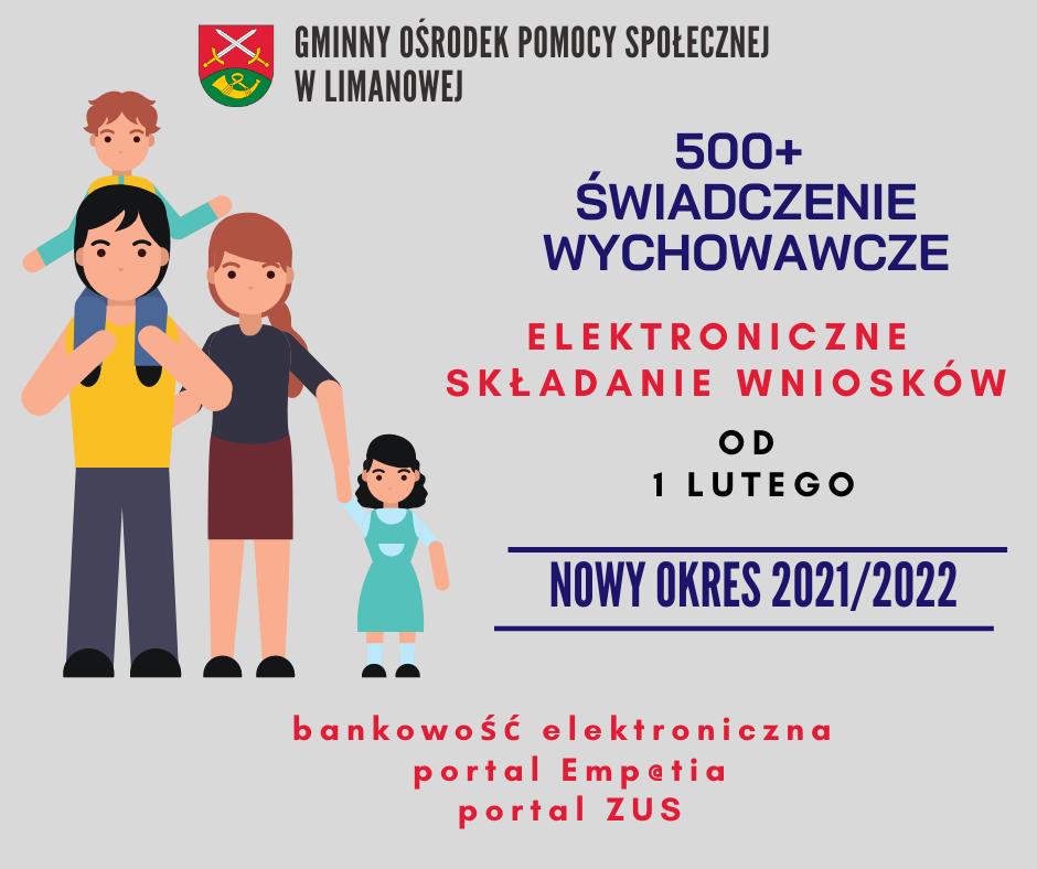 """Świadczenie """"500+"""" na nowy okres 2021/2022 - elektroniczne składanie wniosków od 1 lutego - zdjęcie główne"""