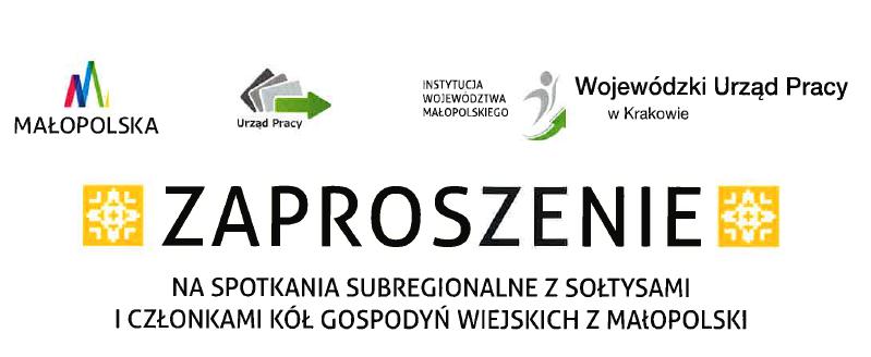 Zaproszenie na spotkania subregionalne z sołtysami i członkami KGW z Małopolski - zdjęcie główne
