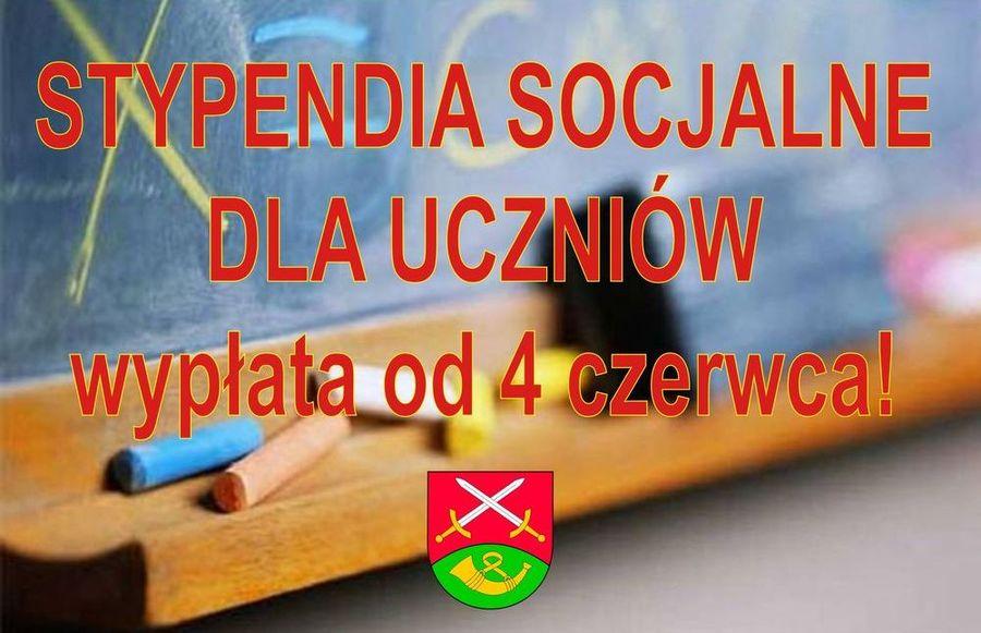 Od 4 czerwca - wypłata stypendiów socjalnych! - zdjęcie główne