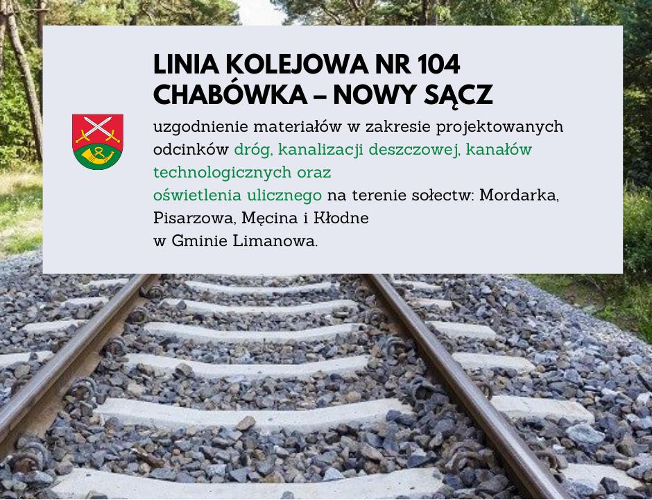 Kolejny etap modernizacji istniejącej linii kolejowej nr 104 Chabówka – Nowy Sącz - uzgodnienia - zdjęcie główne