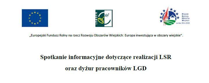 Spotkanie informacyjne dotyczące realizacji  LSR oraz dyżur pracowników LGD - zdjęcie główne