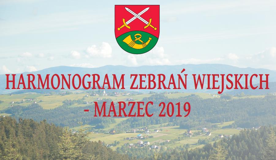 Harmonogram zebrań wiejskich - marzec 2019 - zdjęcie główne