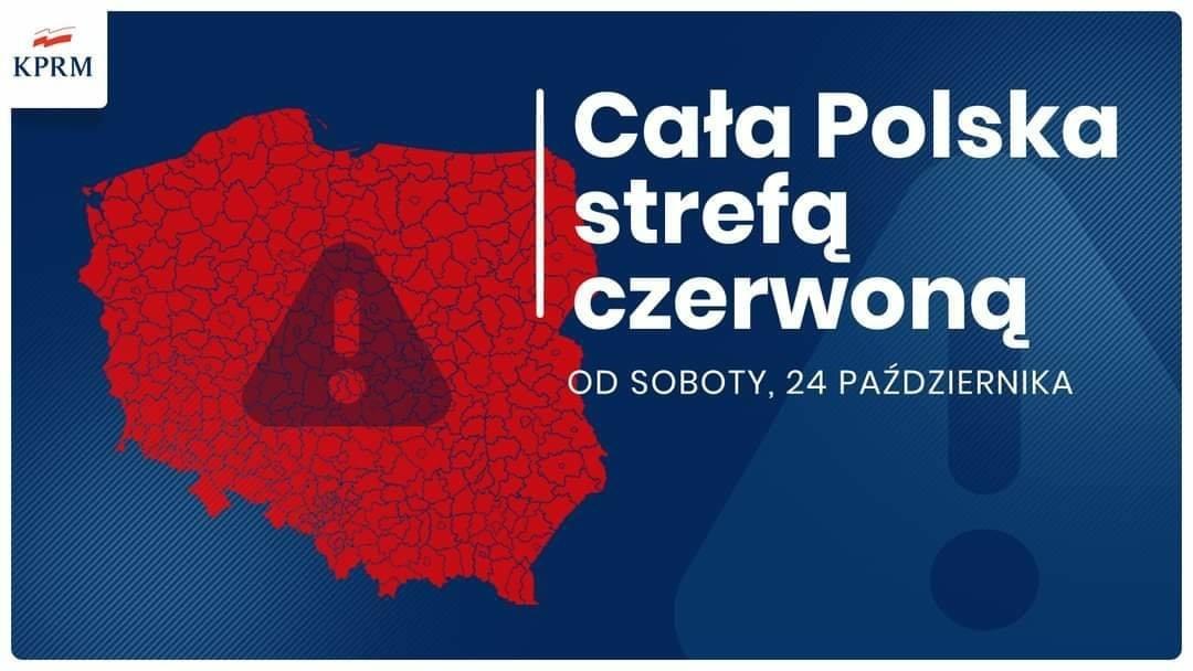 Koronawirus - od soboty 24 października nowe obostrzenia - cała Polska strefą czerwoną - zdjęcie główne
