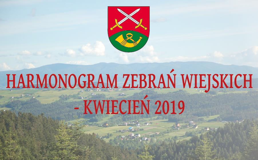 Harmonogram zebrań wiejskich - kwiecień 2019 - zdjęcie główne