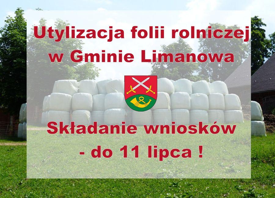 Utylizacja folii rolniczej w Gminie Limanowa - zdjęcie główne