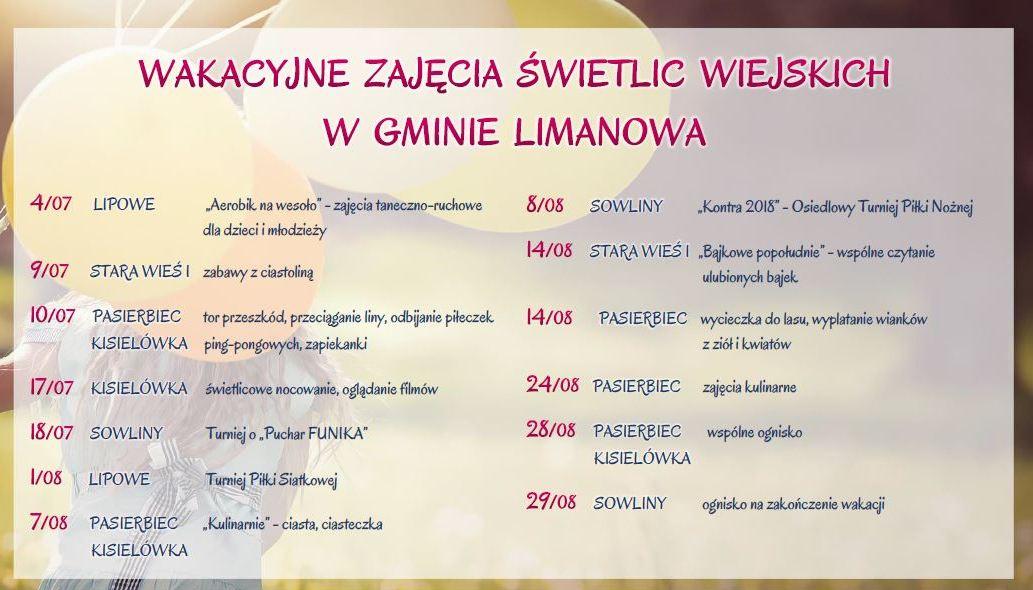 Wakacje 2018 w świetlicach gminnych! - zdjęcie główne