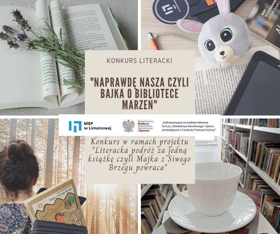 """Konkurs literacki """"Naprawdę nasza"""" czyli bajka o bibliotece marzeń - zdjęcie główne"""