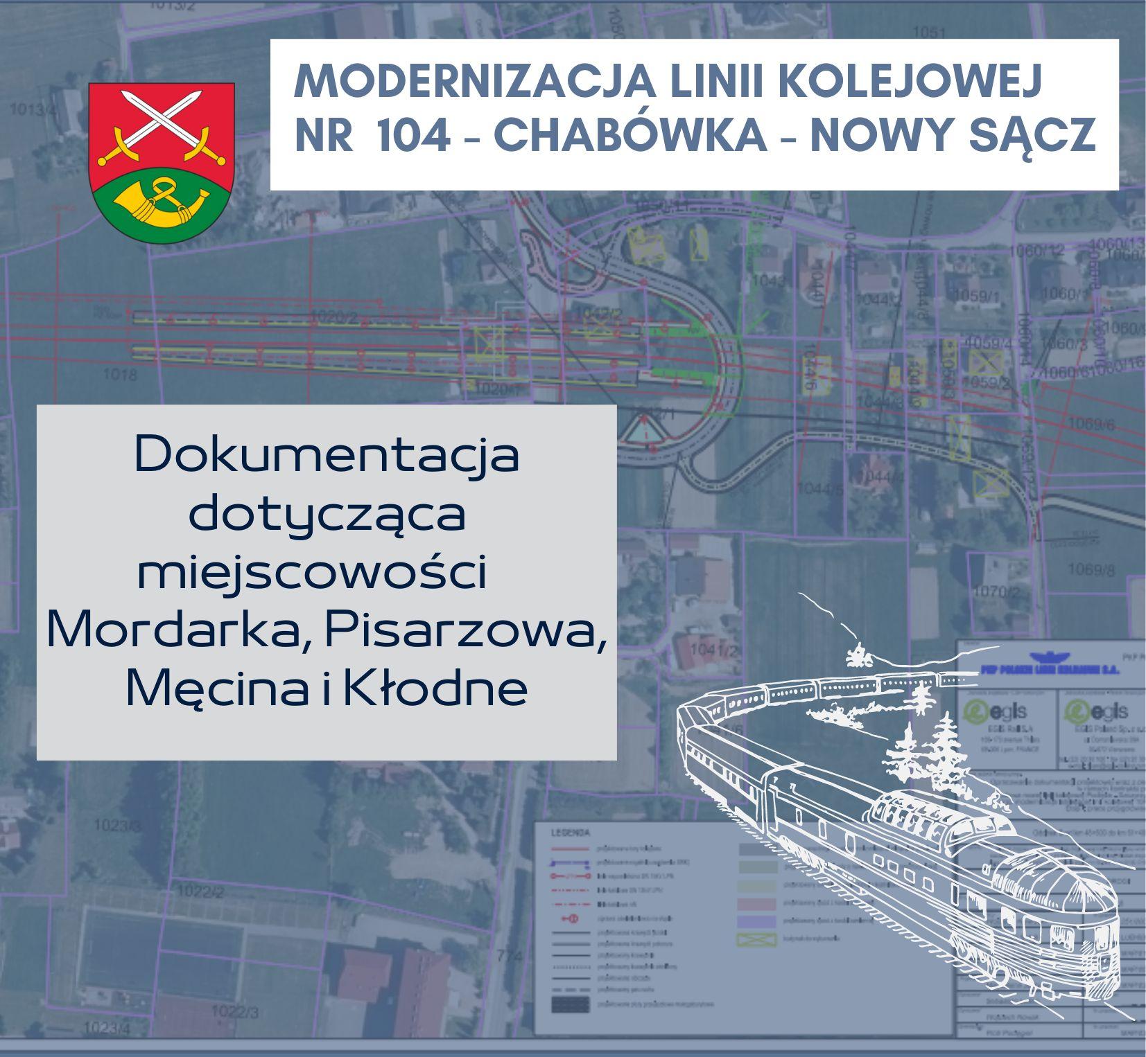 Dokumentacja dotycząca Mordarki, Pisarzowej, Męciny i Kłodnego odnośnie modernizacji linii PKP - zdjęcie główne