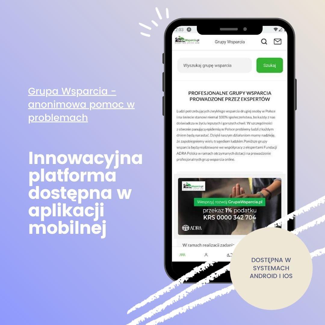 GrupaWsparcia.pl- darmowa platforma wsparcia dostępna w aplikacji mobilnej - zdjęcie główne