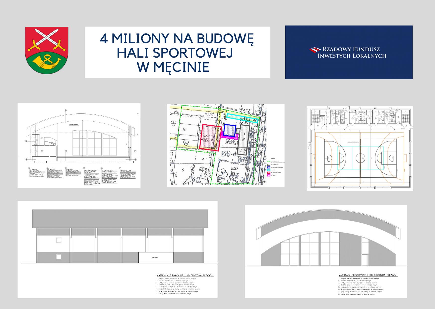 4 miliony na budowę hali sportowej przy Szkole Podstawowej nr 1 w Męcinie - zdjęcie główne