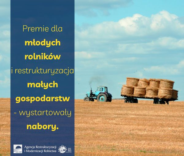 Premie dla młodych rolników i restrukturyzacja małych gospodarstw – wystartowały nabory. - zdjęcie główne
