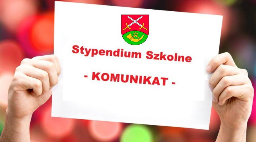 STYPENDIA SZKOLNE  - od 1 do 15 września przyjmowanie wniosków - zdjęcie główne