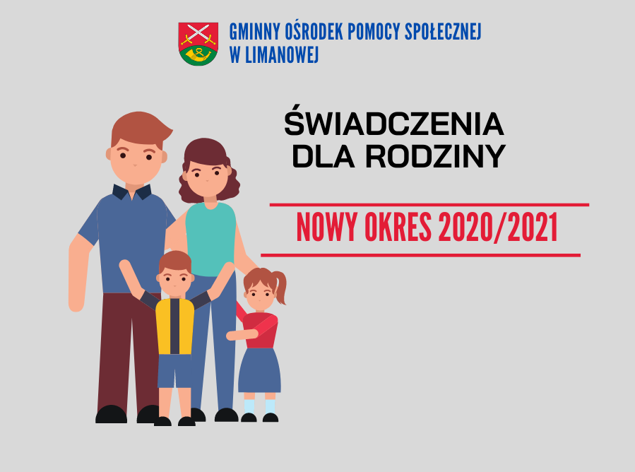 ŚWIADCZENIA DLA RODZINY  NOWY OKRES 2020/2021 - zdjęcie główne